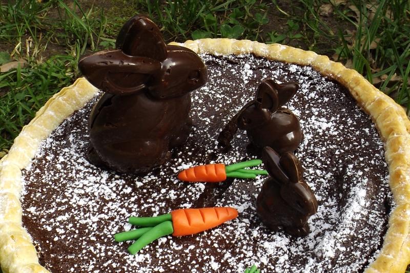 Tarte au chocolat de Pâques et ses lapins en chocolat façon CRUNCH2