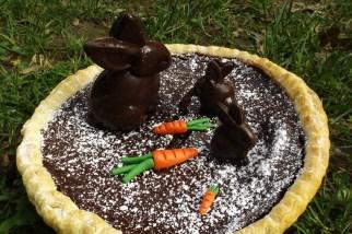 Tarte au chocolat de Pâques et ses lapins en chocolat façon CRUNCH4
