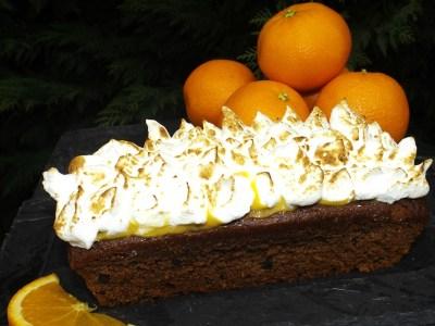 Gâteau Chocolat & Pépites de chocolat à l'orange meringuée2