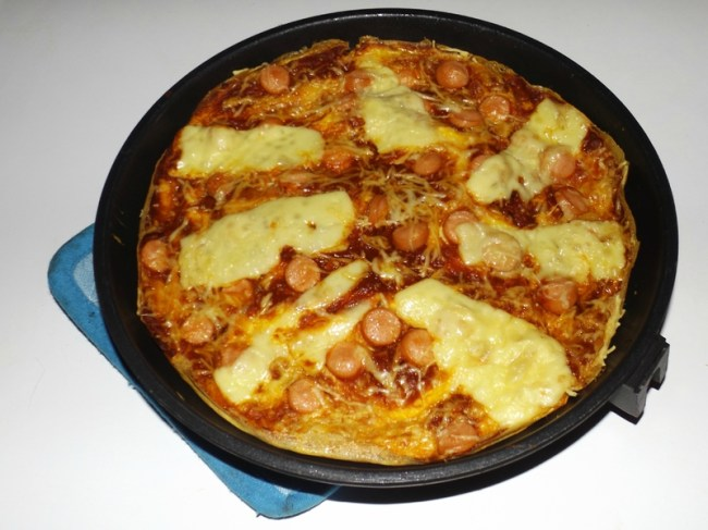 Pizza-omelette aux knackis