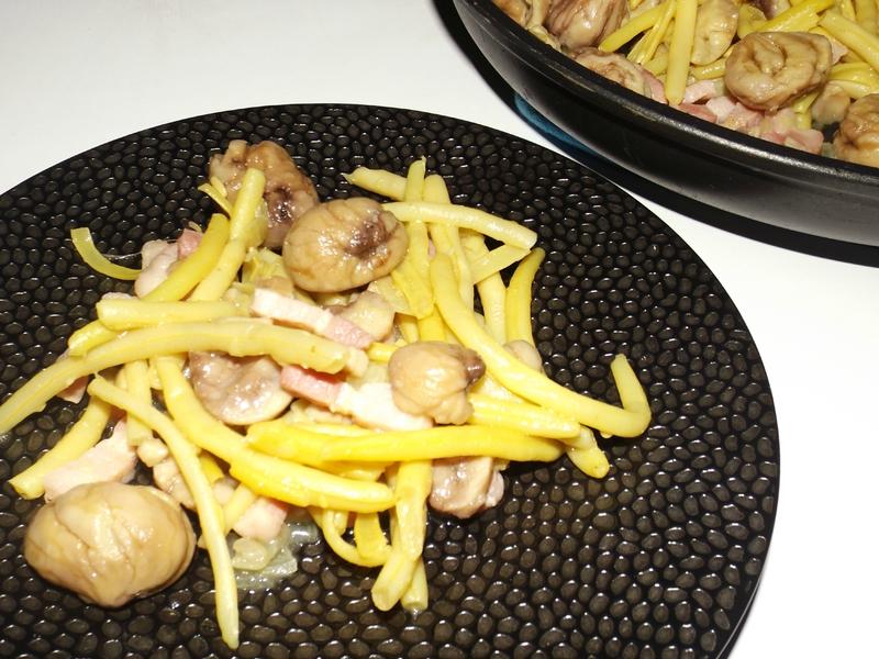 Poêlée de haricots beurre aux marrons2