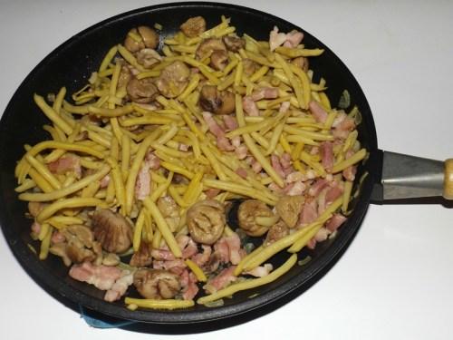 Poêlée de haricots beurre aux marrons4