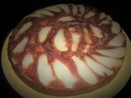 gâteau renversé aux poires et au chocolat