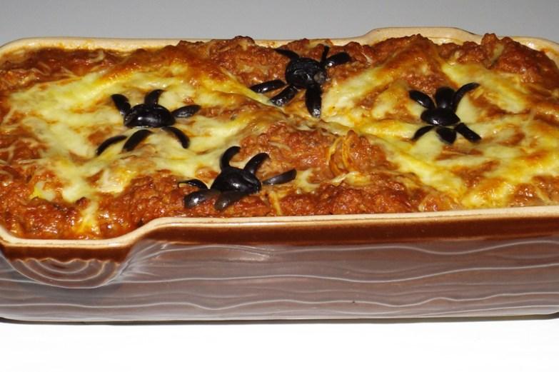 lasagnes d'araignées (halloween)
