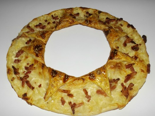 tarte couronne façon flammekueche
