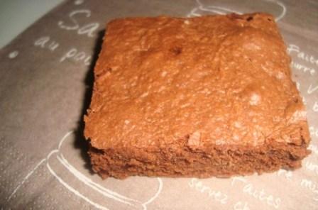 Brownies aux pépites de chocolat noir ( sans beurre )