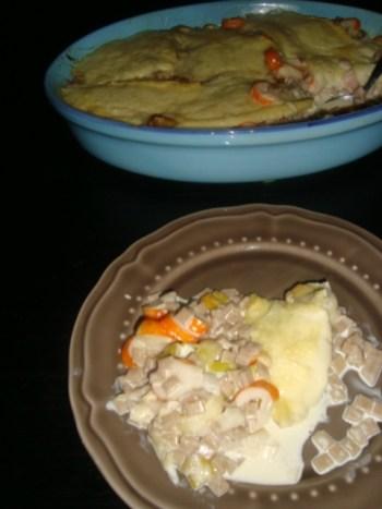 Gratin de crozets aux poireaux et au surimi2