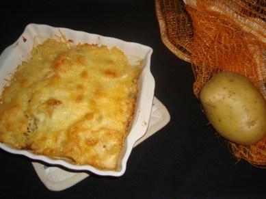 Gratin de pommes de terre et aux rillettes2