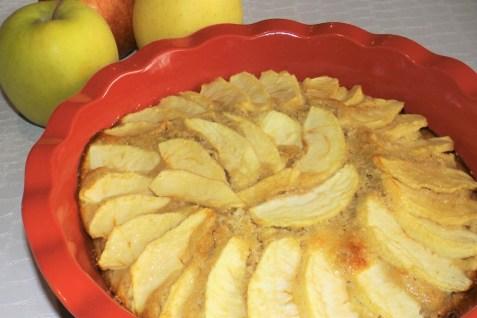 Moelleux aux pommes et à la frangipane2