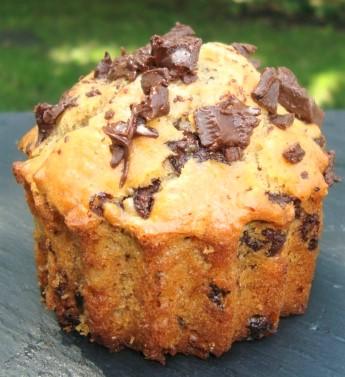 Muffins au beurre de cacahuètes et aux pépites de chocolat (2)
