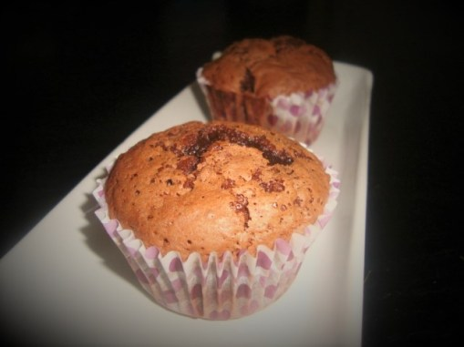 Muffins au chocolat et aux pépites de chocolat