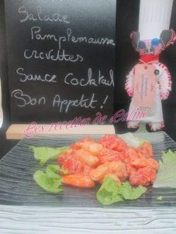 Salade de pamplemousse sauce cocktail