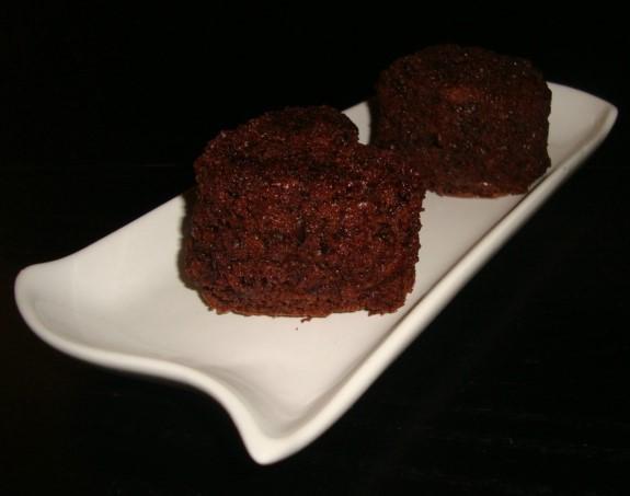 Mini moelleux chocolat courgette