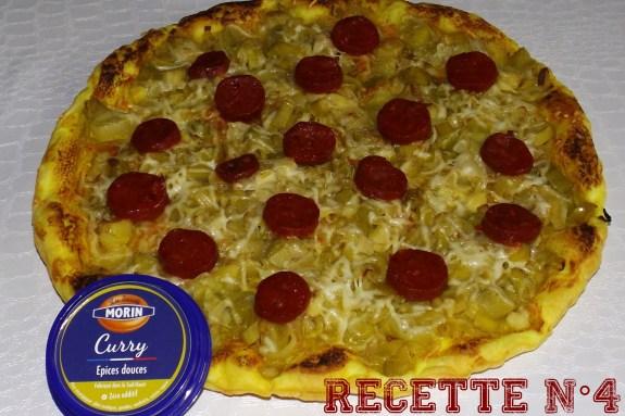 Recette 4 -- Trate aux poireaux, curry et chorizo