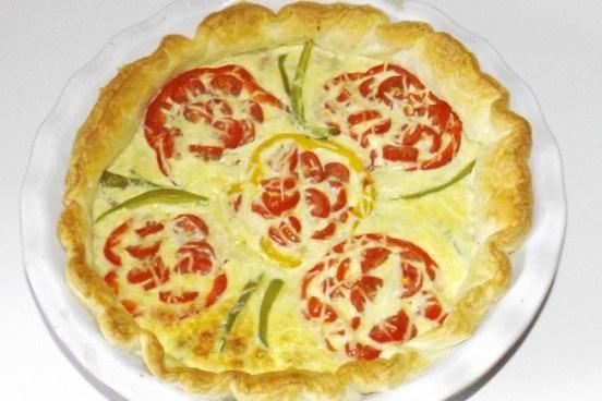 Tarte aux poivrons, aux tomates cerise et au thon 1 (30 09 2020)