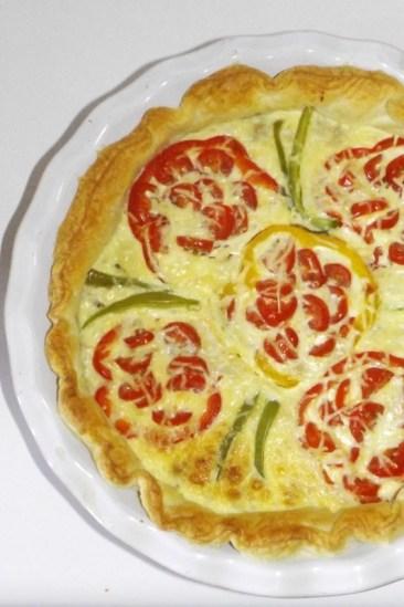 Tarte aux poivrons, aux tomates cerise et au thon 2 (30 09 2020)