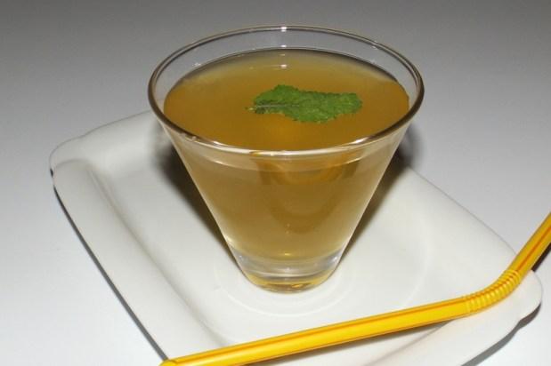 Thé glacé pamplemousse, vinaigre de cidre et menthe 1 (12 09 2020)