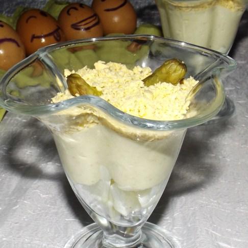 Verrines aux asperges et roquefort mimosa2