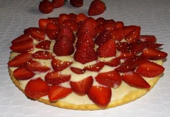 Gâteau aux petits-suisse façon tarte aux fraises