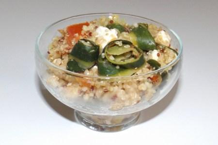 Quinoa et boulgour à la courgette et à la feta