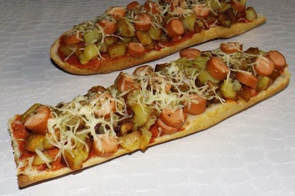 Pizza baguette Strasbourgeois2