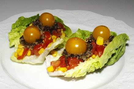 Salade de tomates cerise au maïs et au tartare de la mer2