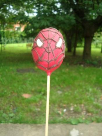 Cake pops Spiderman