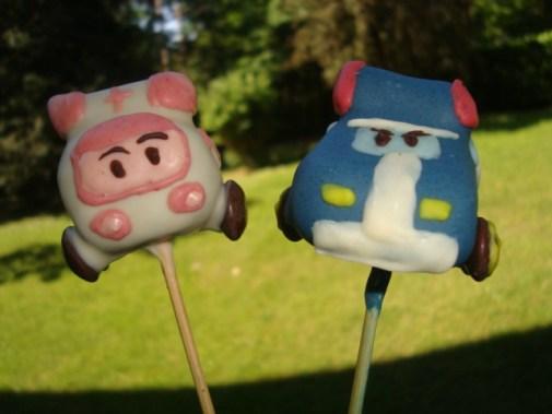 Cake pops robocar poli ( Poli et Ambre )2