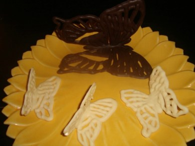 Comment faire des papillons volants en chocolat