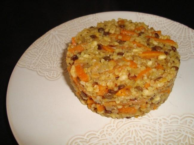 Dahl de céréales et lentilles aux carottes ( Recette Veggie )