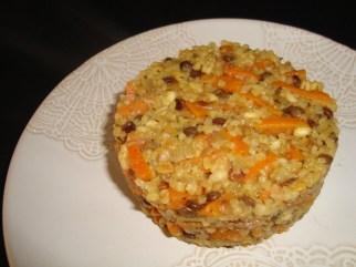 Dahl de céréales et lentilles aux carottes ( Recette Veggie )2