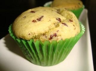 Muffins au thé matcha, lait de coco et pépites de chocolat2