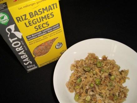 Riz basmati et légumes secs aux petits pois et au curry ( recette Veggie )3