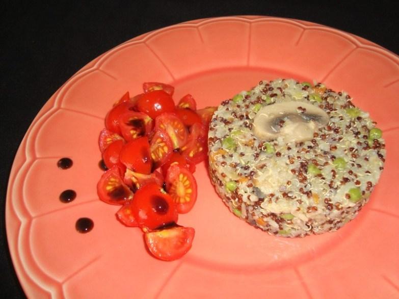 Riz des deux mondes aux petits légumes ( recette Veggie )