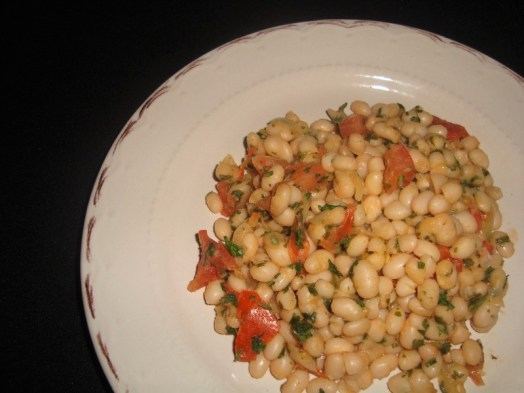 Wok de haricots cocos à la tomate et au persil ( recette Veggie )2