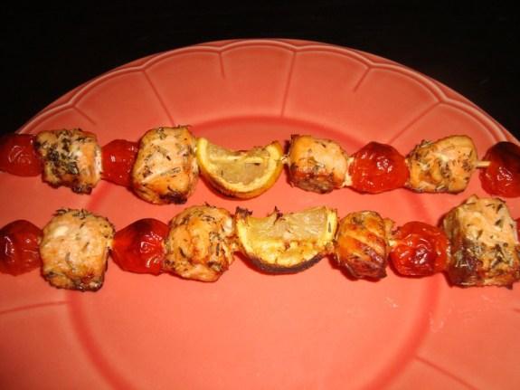 Brochette saumon, citron et tomates cerise2