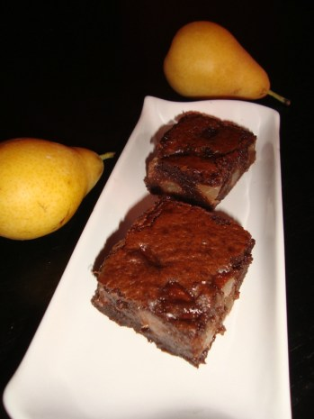 Brownie poire-chocolat