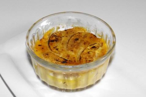 Crème aux pommes et au caramel au beurre salé façon crème brûlée3