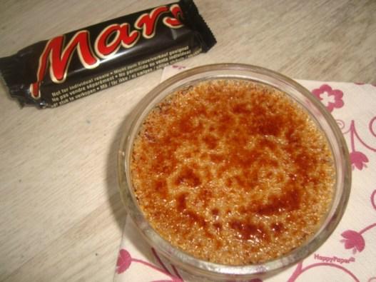 Crème brûlée aux mars