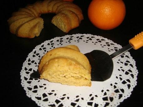Gâteau moelleux à l'orange curd