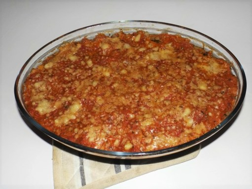 Gratin de blettes à la tomate et au parmesan