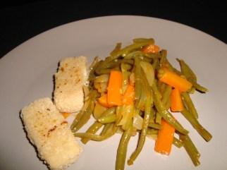 Poêlée de légumes verts et carottes à la sauce aigre-douce3