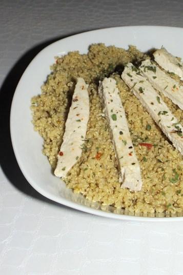 Taboulé de quinoa et poulet (de Laurent Mariotte)2