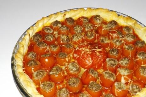 Tarte aux mini-tomates farcies2