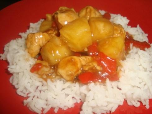 Wok de poulet à l'ananas2