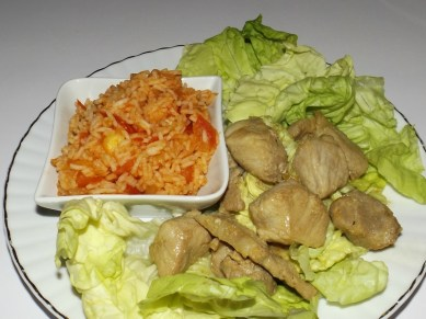 Sauté de porc à la japonaise et riz à la tomate2