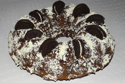 Bundt cake chocolat et oréos