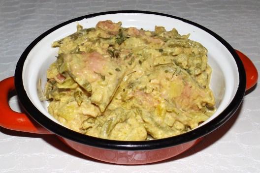 Curry au saumon aux haricots verts