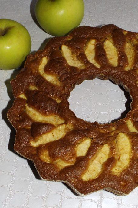 Gâteau aux pommes peu calorique