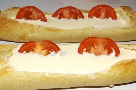 Baguet'quiche au Boursin et aux tomates6